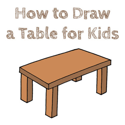 How to Draw a Table Easy