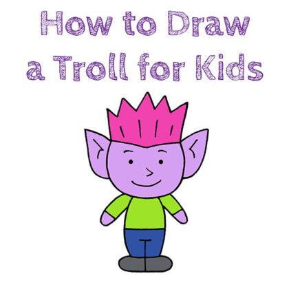 How to Draw a Troll Easy