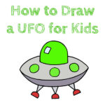 How to Draw a UFO for Kids