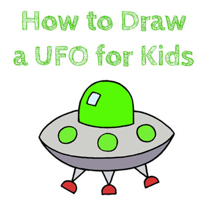 How to Draw a UFO Easy