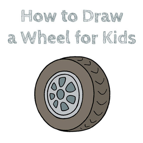 How to Draw a Wheel Easy