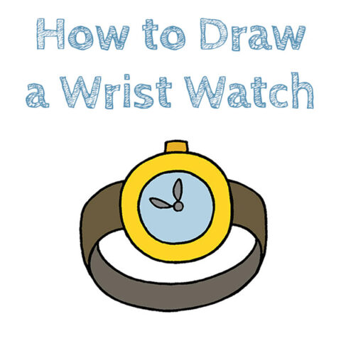 How to Draw a Wrist Watch Easy