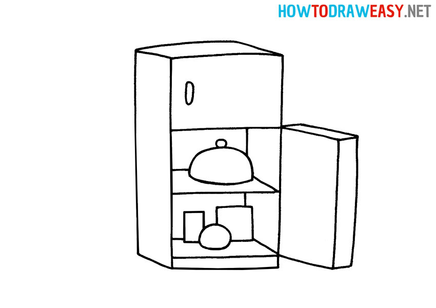 How to Draw an Easy Fridge