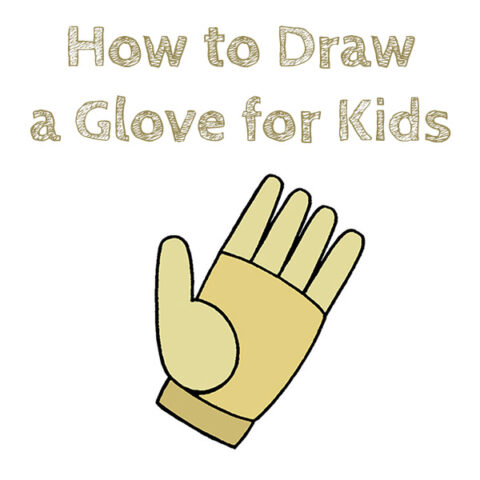 How to Draw an Easy Glove