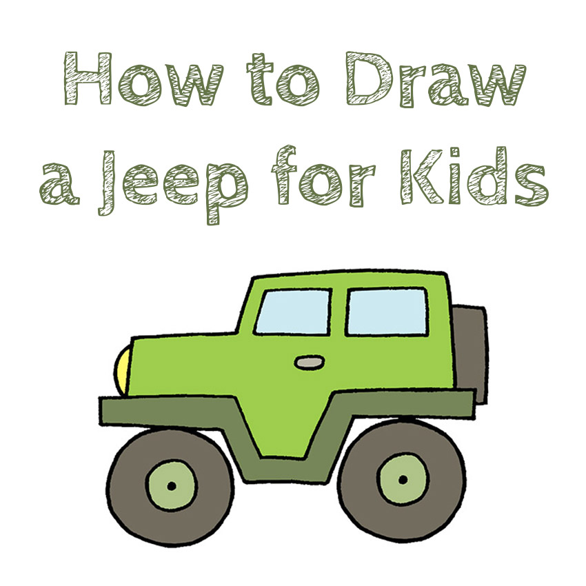 How to Draw an Easy Jeep