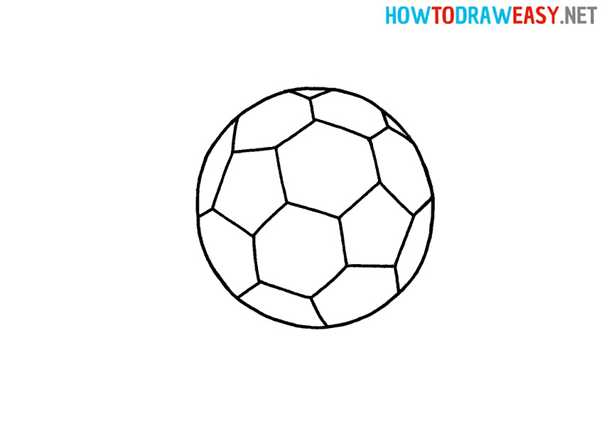 How to Draw an Easy Soccer Ball