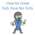 How to Draw Sub Zero for Kids