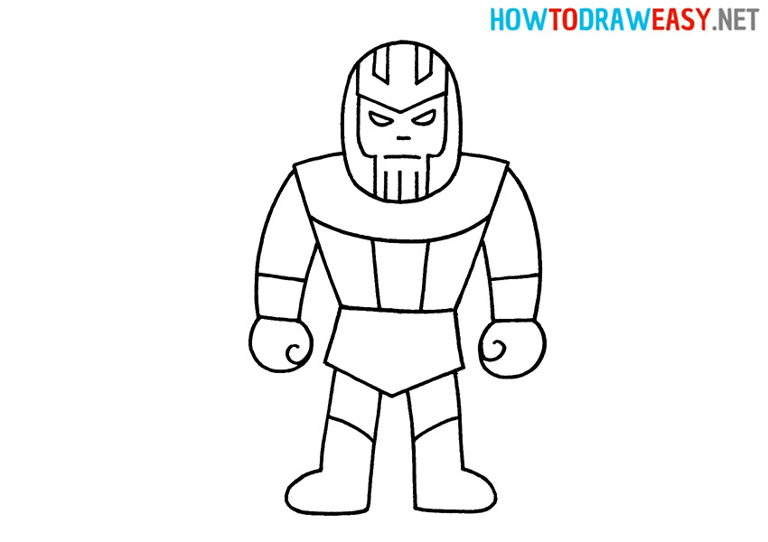 How to Draw an Easy Thanos