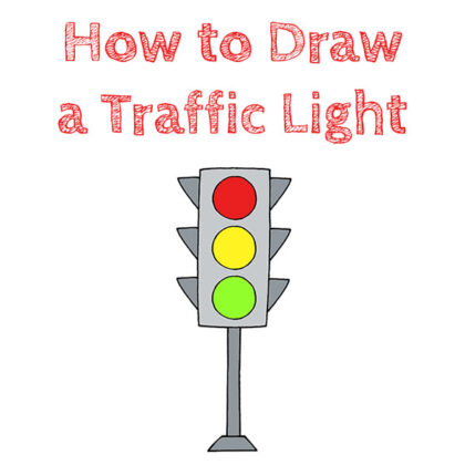 How to Draw an Easy Traffic Light