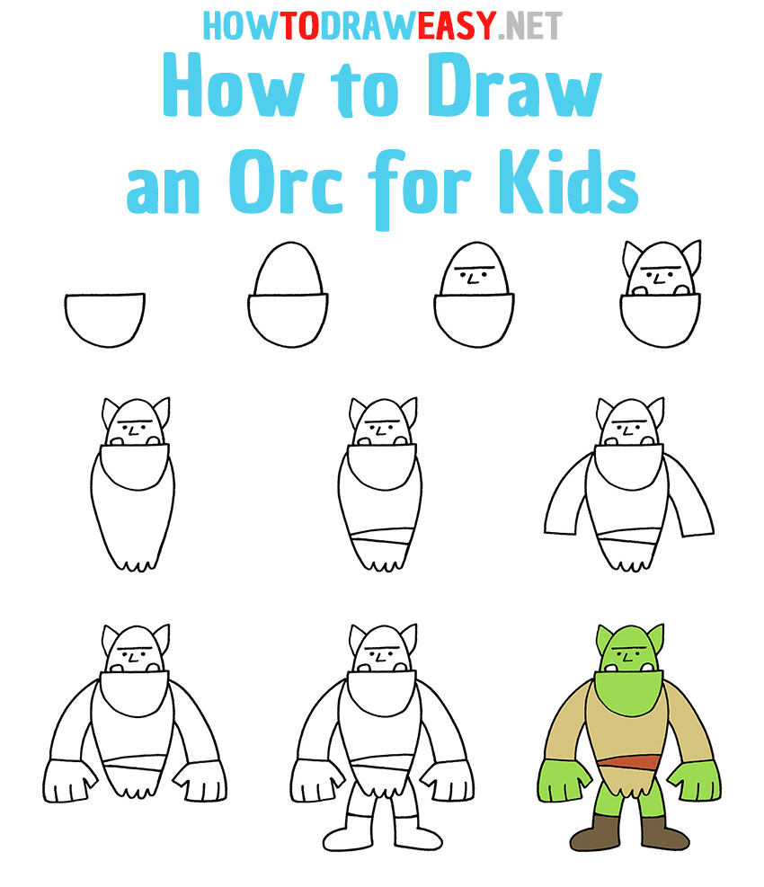 How to Draw an Orc Step by Step