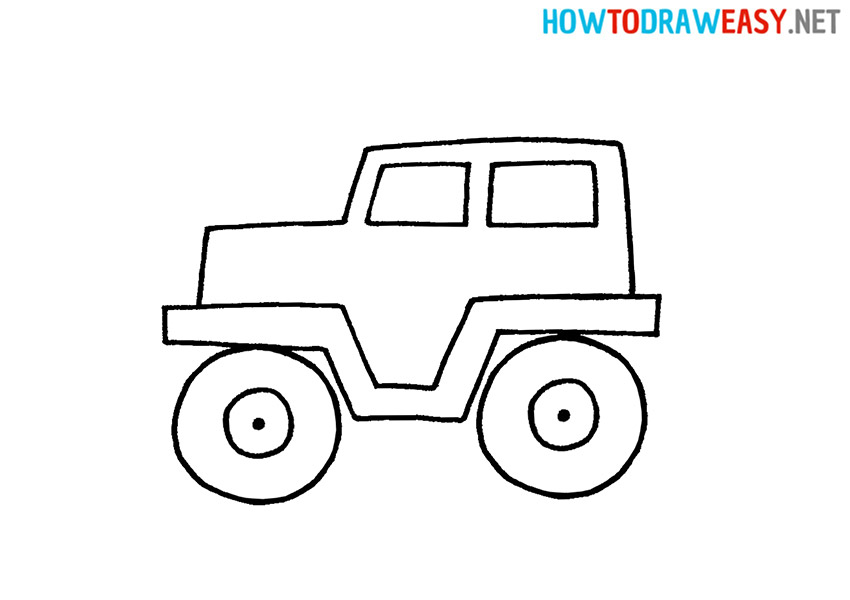 Jeep Easy Drawing