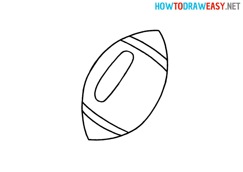 Rugby Ball Drawing Tutorial