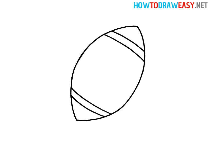 Rugby Ball Drawing