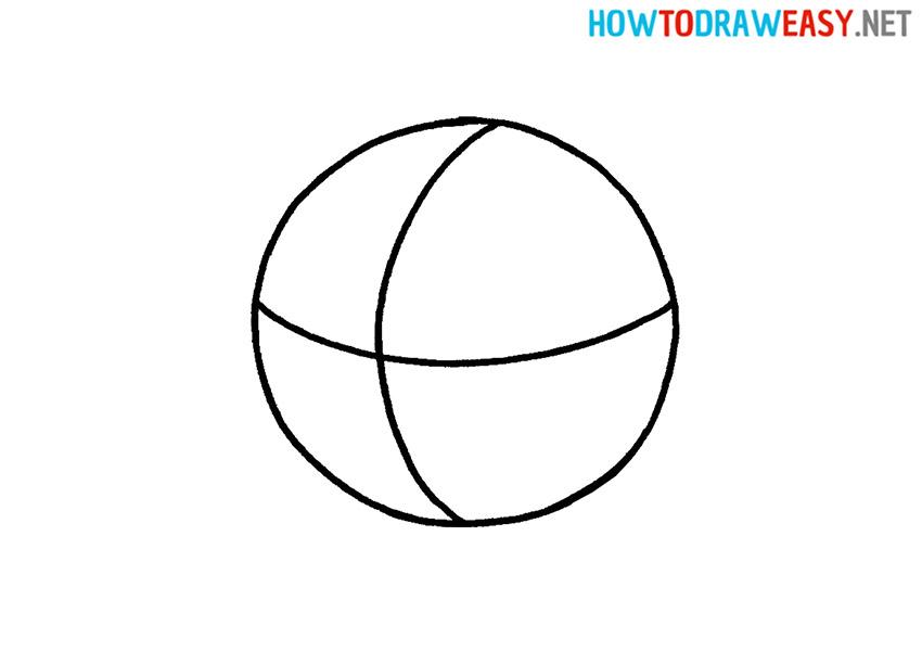Simple Basketball Drawing