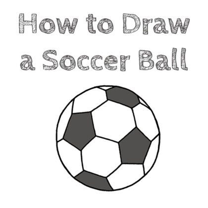 Soccer Ball Drawing Guide