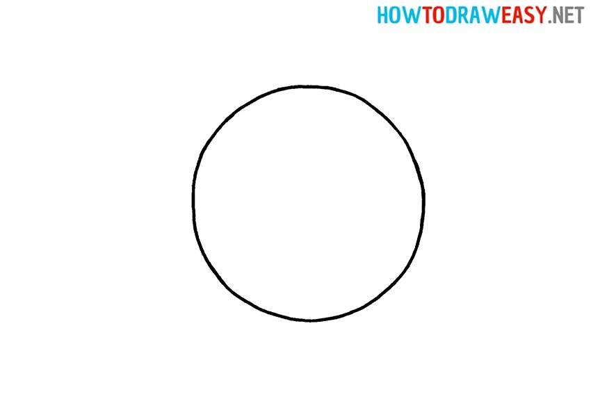 Soccer Ball Shape Drawing