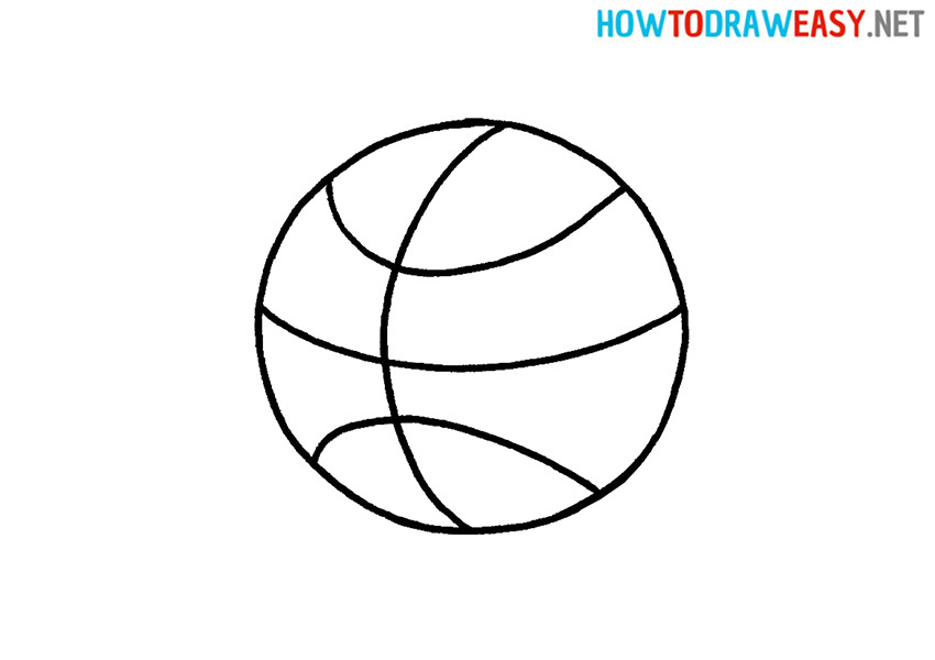 Step by Step Basketball Drawing