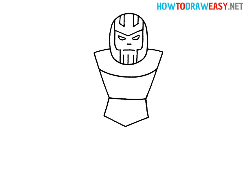 Step by Step Thanos Drawing