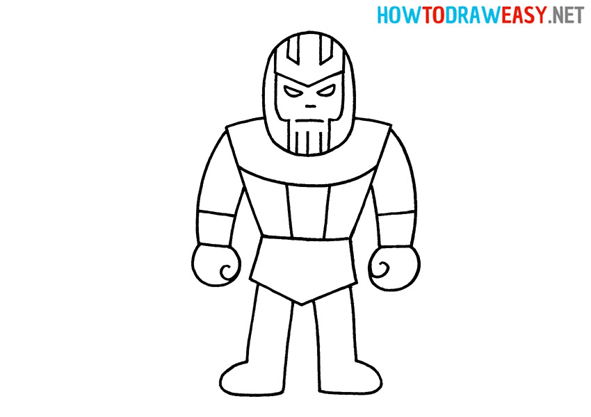 Thanos Drawing Tutorial