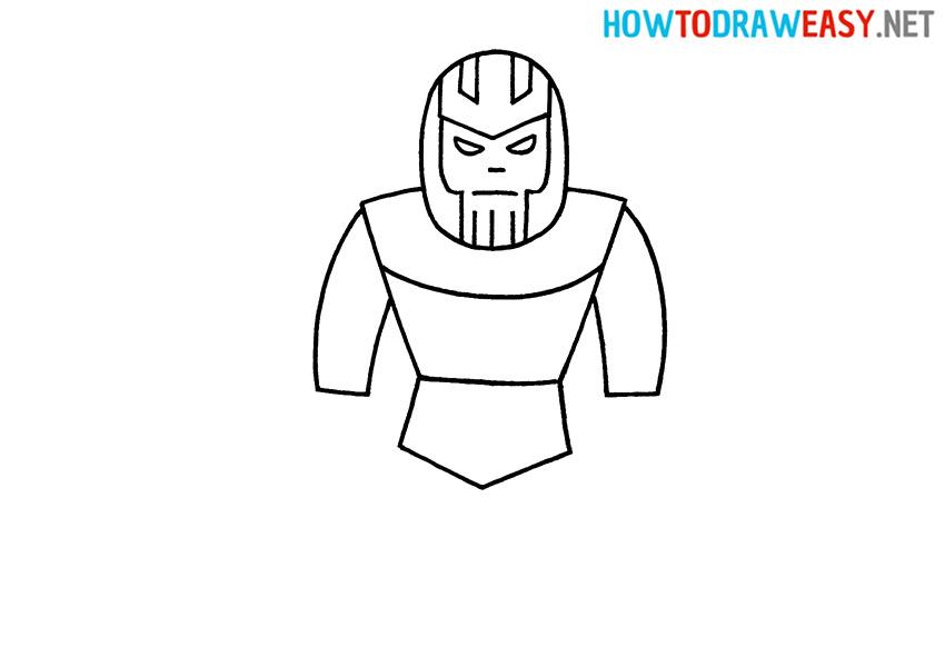 Thanos full body drawing
