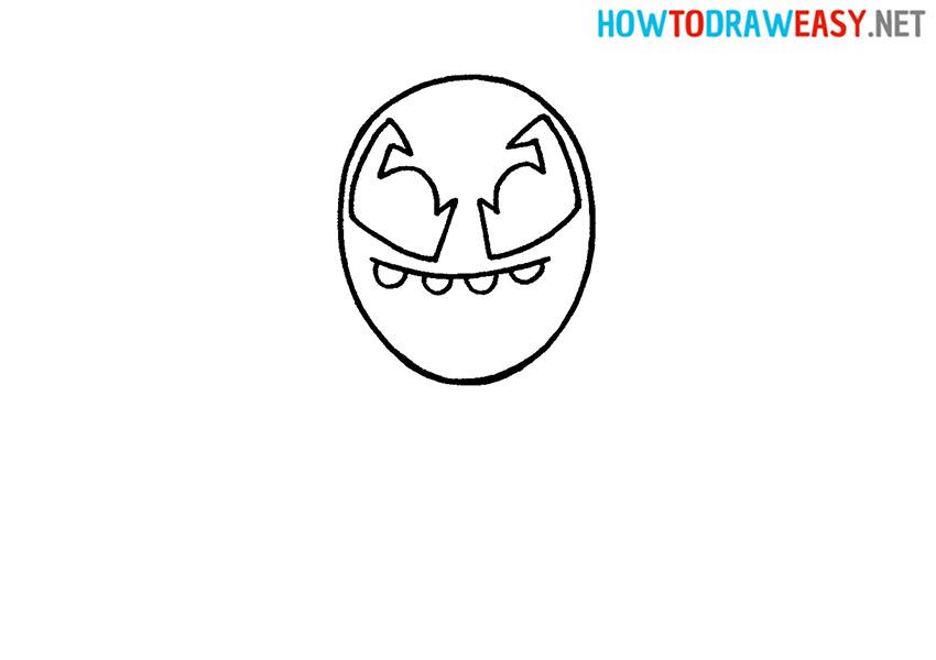 Venom Head Drawing