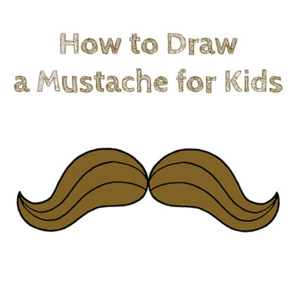 how do you draw a mustache