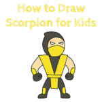 How to Draw Scorpion from MK